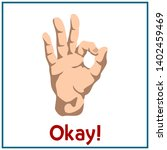 hand shows gesture ok isolated... | Shutterstock .eps vector #1402459469