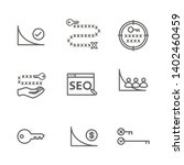 seo strategy   search engine... | Shutterstock .eps vector #1402460459