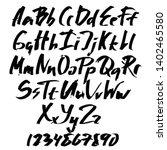 alphabet letters.black... | Shutterstock .eps vector #1402465580