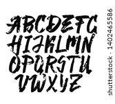 alphabet letters.black... | Shutterstock .eps vector #1402465586