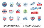 logo for bicycle rental. vector ... | Shutterstock .eps vector #1402490600
