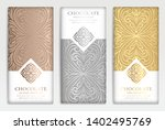 silver and gold vintage set of... | Shutterstock .eps vector #1402495769