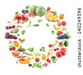 collection of fruits and... | Shutterstock . vector #140249596