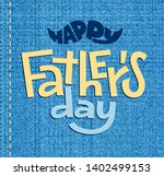 happy fathers day. vector... | Shutterstock .eps vector #1402499153