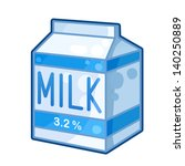 detailed icon. carton of milk... | Shutterstock .eps vector #140250889