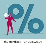 businessman holding megaphone...   Shutterstock .eps vector #1402512809