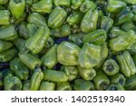 fresh and natural green peppers ...   Shutterstock . vector #1402519340
