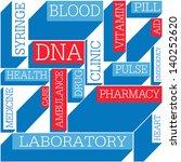 medicine themed seamless... | Shutterstock .eps vector #140252620