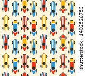 race car seamless pattern... | Shutterstock .eps vector #1402526753
