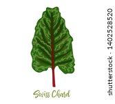 mangold or swiss chard rainbow... | Shutterstock .eps vector #1402528520