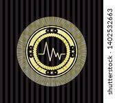 electrocardiogram icon inside... | Shutterstock .eps vector #1402532663