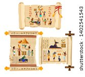 ancient egypt papyrus scroll... | Shutterstock .eps vector #1402541543