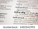 Small photo of Word or phrase infra dig in a dictionary.