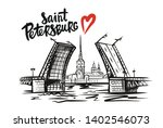 peter and paul fortress. saint... | Shutterstock .eps vector #1402546073