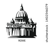 rome icon. saint peters... | Shutterstock .eps vector #1402546079