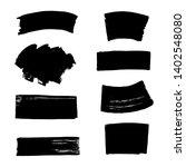 hand drawn black brush strokes. | Shutterstock .eps vector #1402548080