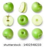 Green apples  apple half  apple ...