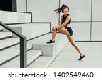 beautiful and fit woman... | Shutterstock . vector #1402549460