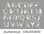 wedding alphabet. initials with ... | Shutterstock .eps vector #1402553093