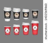 3d blank mug  coffee cup...   Shutterstock .eps vector #1402569860