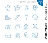 education related icons.... | Shutterstock .eps vector #1402581113