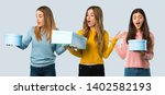 group of people with colorful... | Shutterstock . vector #1402582193