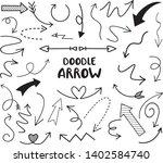 arrow doodle set   vector...   Shutterstock .eps vector #1402584740
