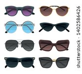sunglasses color flat icons set ... | Shutterstock .eps vector #1402586426
