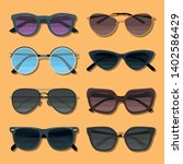 sunglasses color flat icons set ... | Shutterstock .eps vector #1402586429