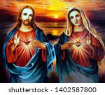 Jesus Christ And Mary With...