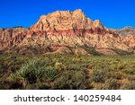 Striated Cliffs At Red Rock...
