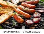 grilled food  pork sausages ... | Shutterstock . vector #1402598639