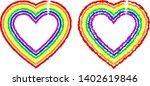 two silhouettes of the heart in ... | Shutterstock .eps vector #1402619846