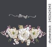 beautiful watercolor flowers...   Shutterstock . vector #1402624343