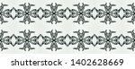 tribal pattern. monochrome folk ...   Shutterstock . vector #1402628669
