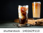 Ice Coffee In A Tall Glass Wit...