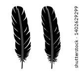 feather icon vector set... | Shutterstock .eps vector #1402629299