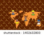 collage multiethnic people on...   Shutterstock .eps vector #1402632803