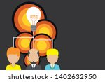 group three people sharing idea ...   Shutterstock .eps vector #1402632950
