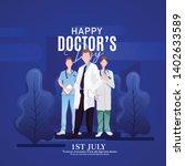 international doctors day... | Shutterstock .eps vector #1402633589