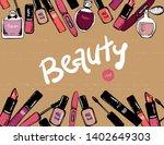 cosmetics elements beauty... | Shutterstock .eps vector #1402649303