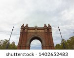 triumphal arch in the city of... | Shutterstock . vector #1402652483