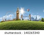london summer park  ... | Shutterstock . vector #140265340