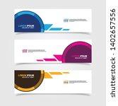 Stock vector vector abstract web banner design template collection of web banner template abstract geometric 1402657556