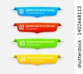 gradient infographics banners.... | Shutterstock .eps vector #1402668113