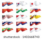 flags of east asia and south... | Shutterstock .eps vector #1402668743