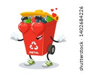 in love cartoon red recycle... | Shutterstock .eps vector #1402684226