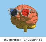 pastel retro engraving human... | Shutterstock .eps vector #1402684463
