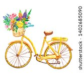 Watercolor Bicycle Illustratio...
