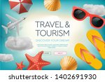 web site design template on the ... | Shutterstock .eps vector #1402691930